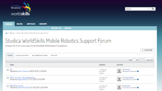 WorldSkills Mobile Robotics Support Forum