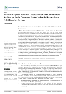 The Landscape of Scientific Discussions on the Competencies 4.0 Concept in the Context of the 4th Industrial Revolution