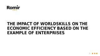 The impact of WorldSkills on the economic efficiency based on the example of enterprises