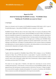 Report on the partnership between WorldSkills Germany and WorldSkills Ghana